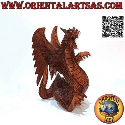 Hand-carved walking winged...