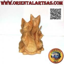 Скульптура кошачья семья в...