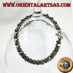 Silber-Armband Blumen und Platte