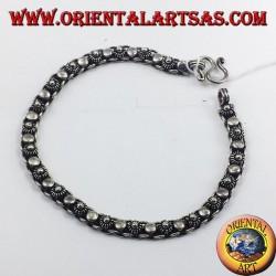 Silber-Armband Blumen und runden Tag