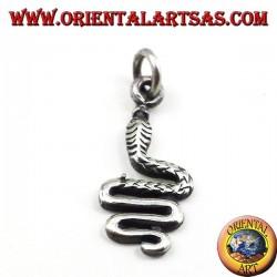 Snake pendant in silver
