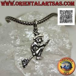 Silver pendant, the befana...