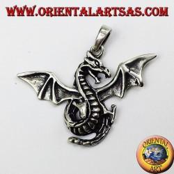 Серебряный кулон Кельтский Крылатый дракон