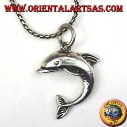 silver pendant, Dolphin