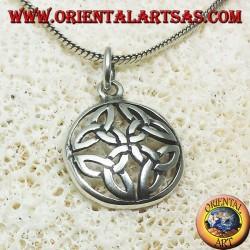 ciondolo in argento, Nodo di Duleek simbolo celtico (medio)