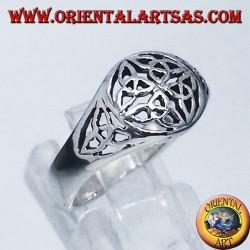 Silver ring, Duleek knot Celtic symbol