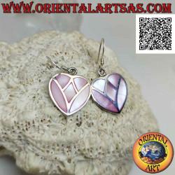 Heart-shaped silver pendant...