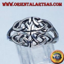 Silver ring, Iona Celtic knot symbol