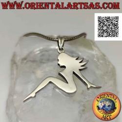 Silver pendant, smooth...