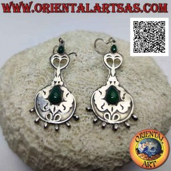 Silver earrings with a pair...