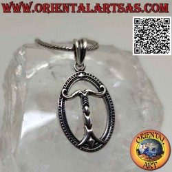 Silver pendant, Irminsul or...