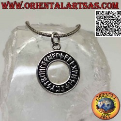 Silver pendant, disc with...