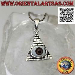 Silver pendant, eye of...