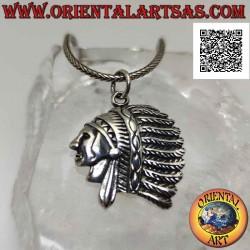 Silver pendant, profile of...