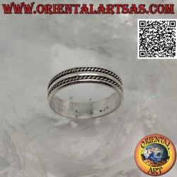 Silver ring with worked...
