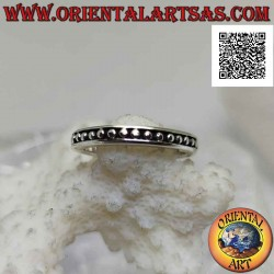 Silver band ring with small...