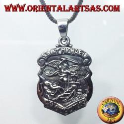silver pendant, San Michele Arcangelo