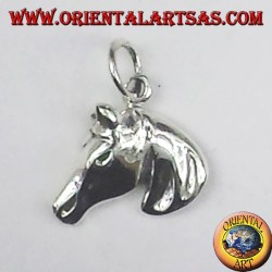 ciondolo in argento testa di cavallo