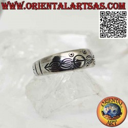 Growing band silver ring...