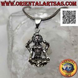 Silver pendant, statue of...