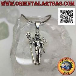 Silberanhänger, Statue von...