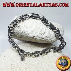bracciale in argento, catena con giglio