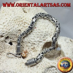 bracciale in argento, Borobudur sezione quadrata mm. 6,5*6,5