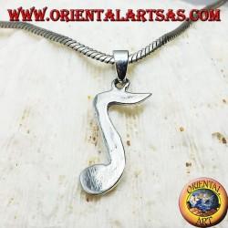 Silber Anhänger, musikalische Note Chroma