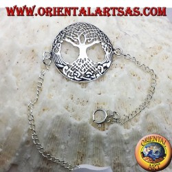 серебряный браслет, дерево жизни