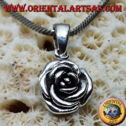 Rose pendant in silver