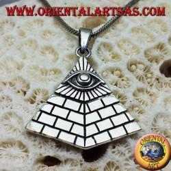 ciondolo in argento Piramide degli illuminati