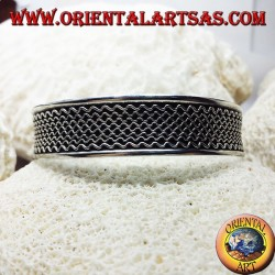 Silber-Armband, handgemachte Wellen