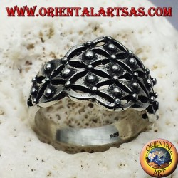 silver ring Sardinian wedding