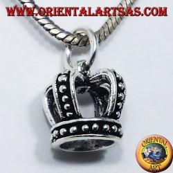 colgante de plata, corona