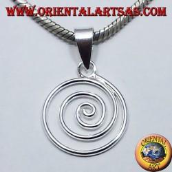 spiral pendant in silver
