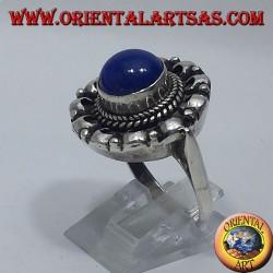 anello in argento con lapislazzulo tondo