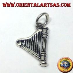 Celtic Harp pendentif en argent