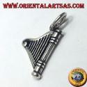 Celtic Harp pendant in silver