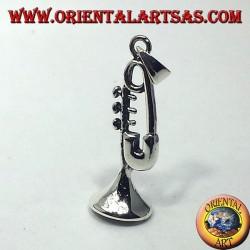 серебряный кулон, труба