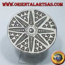 silver ring, Karen hand-carved star