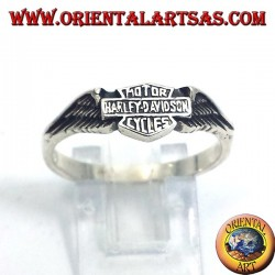 Silver ring Harley Davidson with wings
