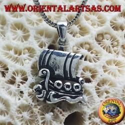 Silver Pendant, sailing ship Viking Drakkar