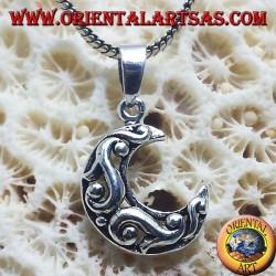 Ciondolo in argento, luna Celtica