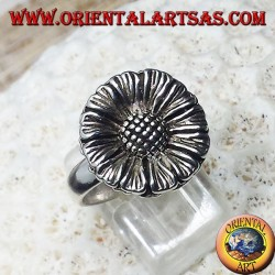 Silver ring Sunflower