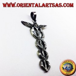 caduceus pendant in silver
