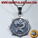 Indonesian Om pendant, silver