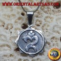 Indonesian Om pendant, silver