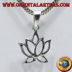 silver pendant Lotus