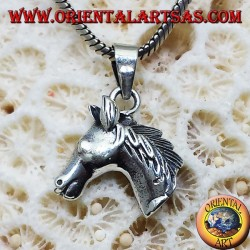 pendant small silver horse's head
