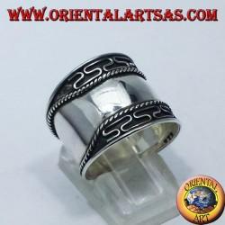 ring wide belt silver Bali